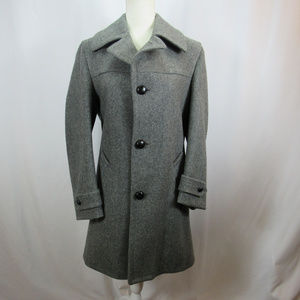 Pendleton Gray Wool Button Front Coat Pea Coat